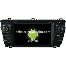 Андроид ! автомобиль DVD GPS для 2014 Королла Прадо +андроид 4.2 +двухъядерный +емкостный сенсорный экран+ОЕМ