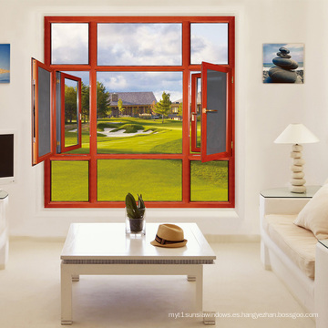 Feelingtop Aluminio Metal / ventanas de aluminio de aleación con mosquitero