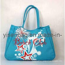 Blue Tote Beach Bag (YSBB120413-001)