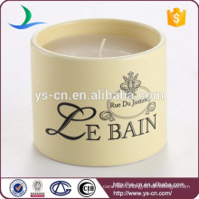 Factory Wholesale Modern Round Decal Ceramic Candle Candle Holder