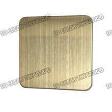 High Quality 430 Stainless Steel Hairline Sheet for Decoration Materials