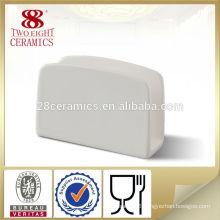 Hotel restaurant tableware ceramic white facial tissue box holder