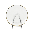 Hammer Glass Charger  Plate With Gold Rim