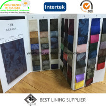 100 Polyester Men′s Suit Jacquard Lining Fabric Ready Stock More Than 100 Colors China Supplier