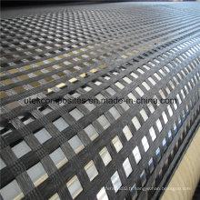 Geogrid Uniaxial Polyester Avec Revêtement PVC 60kn-1000kn