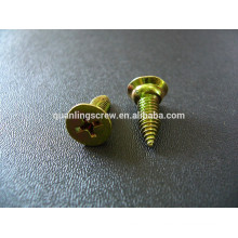 Flat head with washer self tapping screw