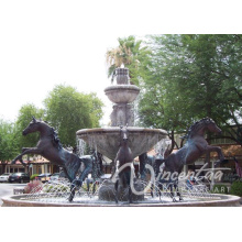 Large outdoor bronze horse fountain for sale