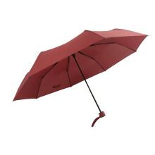 3 fold outdoor portable travel  waterproof rain umbrellas for lady