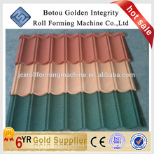 Anti-UV stone coated metal roofing sheet roof tile making machine price