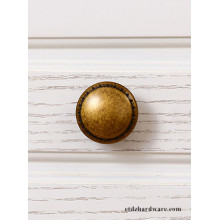 Round Antique Furniture Accessories Zinc Cabinet Knobs