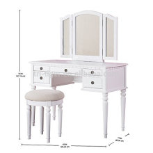 2018 hot selling new design wood dressing table white bedroom dresser