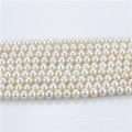 6mm halb aus runder Süßwasser kultivierter Perlenstrang
