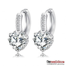 Heart Zircon Women Wedding Huggie Earring (CER0151-B)