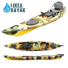 Длина рыболовной лодки длиной 4,3 метра для одного человека Fisher, сиденья / двигателя
