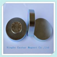Imán de NdFeB disco de tierra rara con la galjanoplastia del cinc