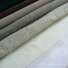 100% Tecido de linho Tecido de linho puro Tecido de linho de vestuário
