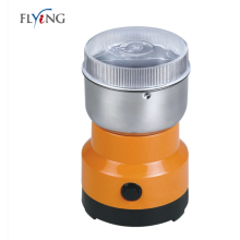 Electric coffee grinder with lid