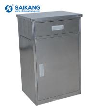 Armário moderno de aço inoxidável da cabeceira da clínica SKS006-1