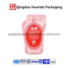 Detergente de plástico de plástico de pie hasta el embalaje Spout Bolsa