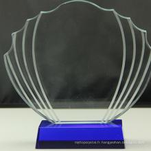 Promotionnel divers durable usecustom cadeau laser gravé cristal bloc verre trophée
