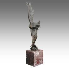 Tier Messing Statue Adler Dekoration Bronze Skulptur Tpal-194
