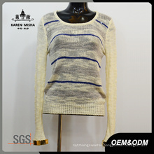 Women Round Neck Knitwear with Special Cuffs