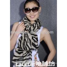 Neue Mode MERCERIZED WOLLE & BAUMWOLLE gemischte Schal-Zebra-Adern