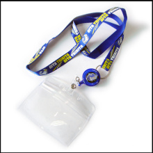 Retractable Polyester/Nylon Printing/Printed Custom Lanyards with ID Card/Badge Holder