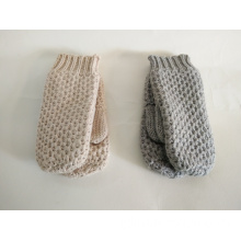Plain Colour Knitted Warm Mittens