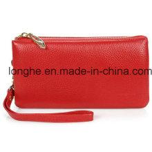 Bolsa de embreagem de alta capacidade de couro real (LY0120)