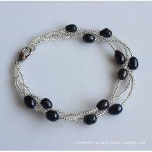 Дешевые ювелирные изделия пресной воды Pearl браслет (EB1536-1)