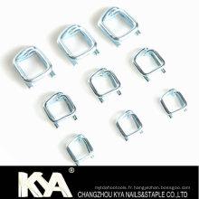 Boucles en acier galvanisé de 32 mm pour cercler