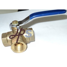 forged brass three way ball valve