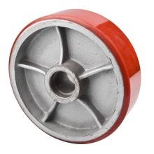 Rueda de la rueda de la carretilla elevadora del hierro fundido de la PU 180X50m m