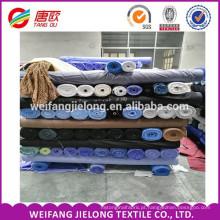 TC bolso tecido para forro em estoques de poliéster algodão misturado planície tingida popeline tecido estoque popeline tecido atacado para camisa