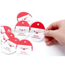 Hot selling punch hole étiquettes de cadeaux en forme de noël pour l'emballage cadeau