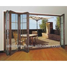 Plegado térmico y aluminio deslizante para puertas