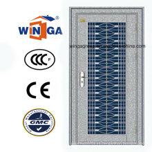 Con vidrio 304 de plata de acero inoxidable puerta de seguridad exterior (W-GH-18)