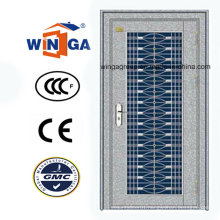 with Glass 304 Silver Stainless Steel Exterior Security Door (W-GH-18)
