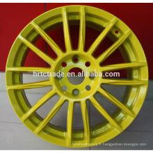 Jante voiture jaune