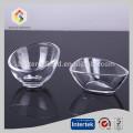 Irregular shaped crystal glass bowl
