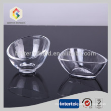 Irregular shaped crystal glass bowl