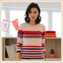 Suéter de mujer 100% de cachemir / lana pura