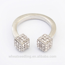 Nouveau design cube diamante fashion ring