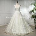 Последние свадебное платье дизайн суд поезд рукавов свадебное платье свадебное