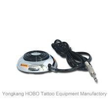 Pedal máquina de tatuagem de aço inoxidável tatuagem alimentação interruptor de pé