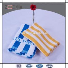 Hot Sale hilado teñido de estilo toalla de playa Logotipo personalizado Hotel Twenty One toallas de baño