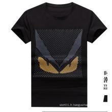 T-shirt imprimé en coton d'été pour hommes