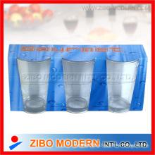 Taza de vaso de vidrio transparente
