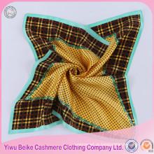 Lady Scarf Digital Print Satin 100% lenço de seda cachecol à venda